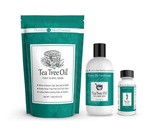 Purely Northwest Foot and Toenail Kit with 16 oz Tea Tree Oil Foot Soak, 9 fl oz Antifungal Tea Tree Oil Foot...